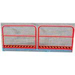 5. Ein Geländer auf 2 Seiten L (OPT-HRL). Für die größere Sicherheit der Fußgänger, die auf der Plattform arbeiten. Höhe 1000 mm.