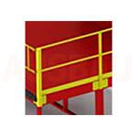 12. Ein Geländer auf 1 Seiten G (OPT-HRL). Für die größere Sicherheit der Fußgänger, die auf der Plattform arbeiten. Höhe 1000 mm.