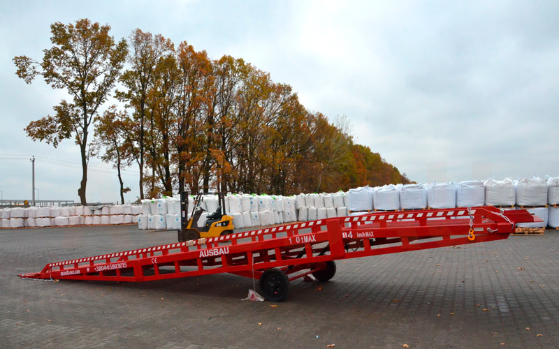Mobile rampe für LKW AUSBAU